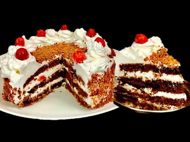 ஓவன் இல்லாமல் black forest cake😋 | Black Forest Cake in Tamil | Black Forest Cake Recipe in Tamil