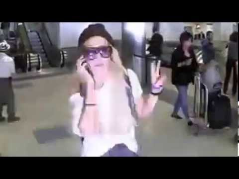 Amanda Bynes At LAX Before Psych Hold