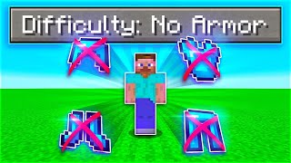 I Beat Minecraft With NO ARMOUR (giveaway for every death)