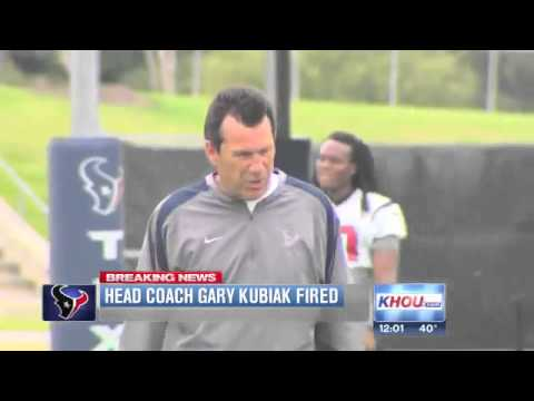 ▶ BREAKING  Gary Kubiak fired as Texans coach   YouTube