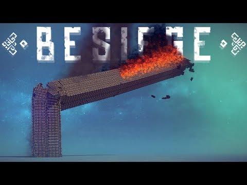 Besiege - 3000 Block Tower Destruction! - Large Scale Creations - Besiege Best Creations