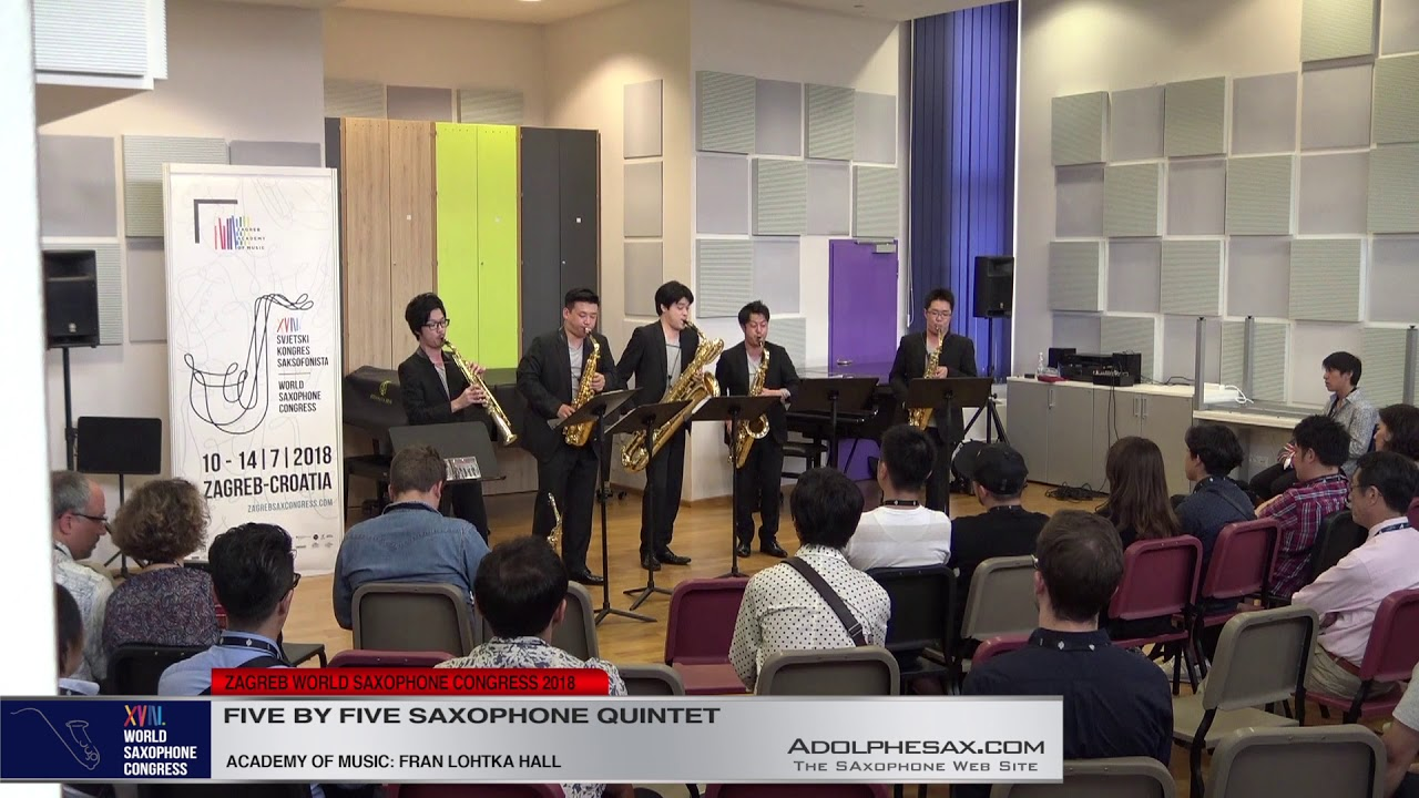4 Pag 129   Five by Five Saxophone Quintet   XVIII World Sax Congress 2018 #adolphesax