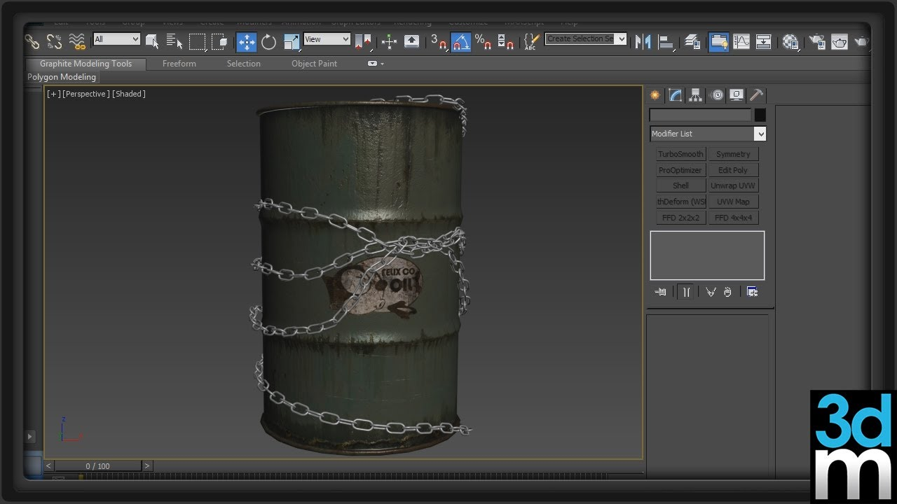 Using The Path Deform Modifier In 3ds Max 3dmotive Youtube