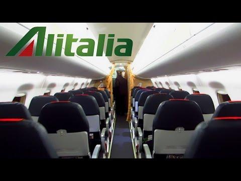 TRIP REPORT | Alitalia Cityliner | E175 | Rome FCO to Torino | Economy Class [Full HD]