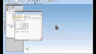 Измерения в моделях в Комас 3D. Информационное окно