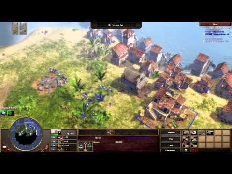 Age of Empires III: The Asian Dynasties  1v1 Game Portuguese  vs Spanish