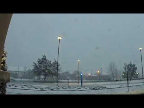 Snow in Huntsville, Alabama - Time Lapse