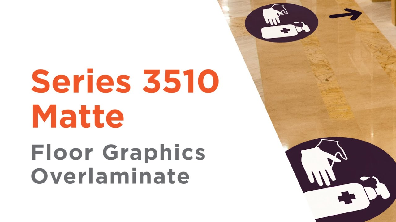 Series 3510 Matte - Approved Slip-Resistant Floor Overlaminate