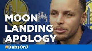 Warriors' Stephen Curry expresses regret, apologizes over moon landing comments