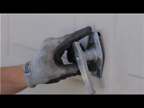 Garage Door Help How To Replace A Garage Door Lock Or Handle Youtube