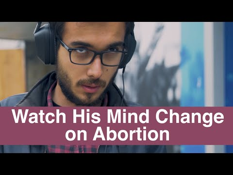 """""""Really, Really Wrong. Wow"""" - Watch his mind change on abortion"""