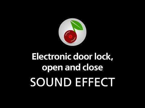 electronic door lock open and close sound effect youtube. Black Bedroom Furniture Sets. Home Design Ideas