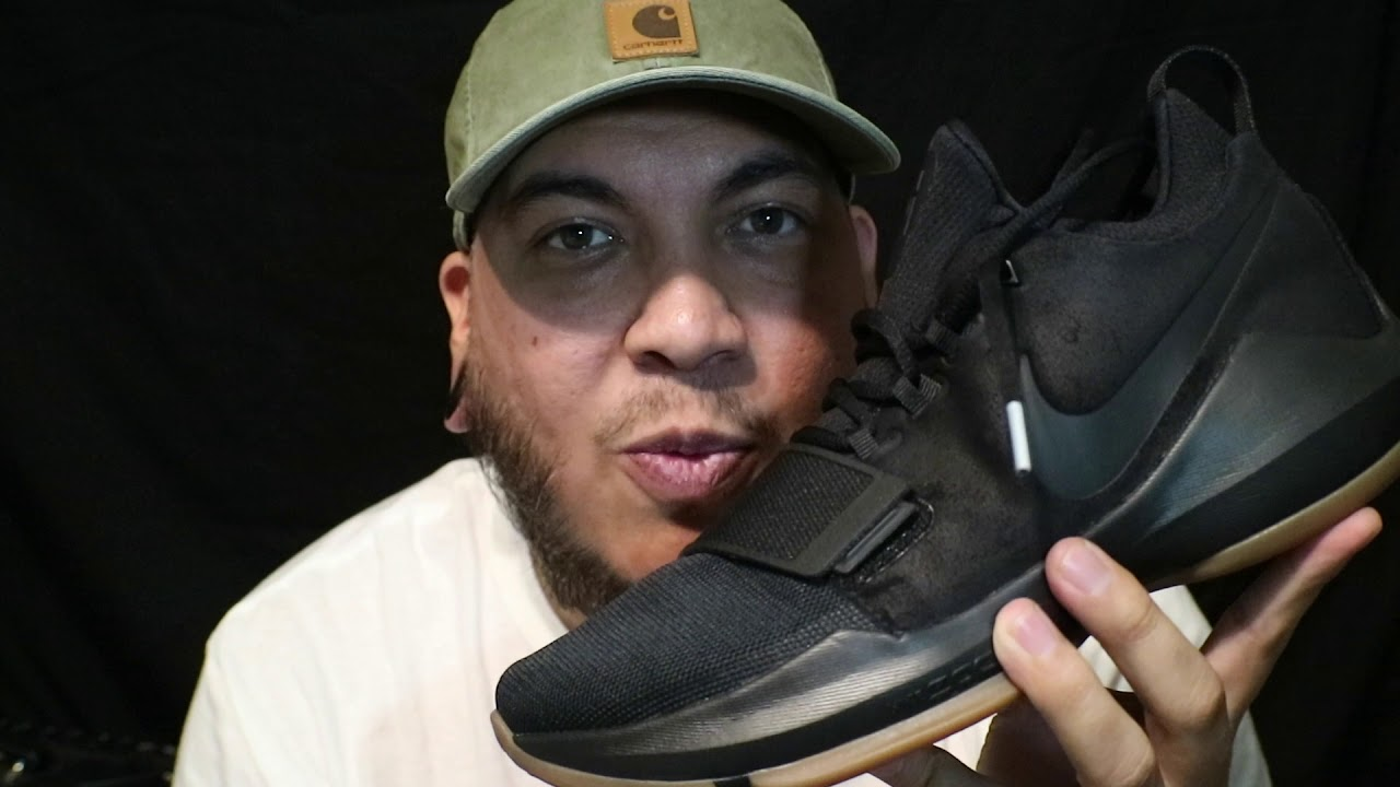 ff356934f26 2017 Nike Paul George 1 (PG1) Black   Gum review + on feet - YouTube