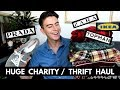 Huge Charity Shop Thrift Store Haul & Cleaning my £4 Prada Trainers | Ad