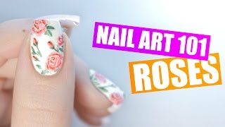 How To Paint Realistic Roses on Your Nails | NAIL ART 101