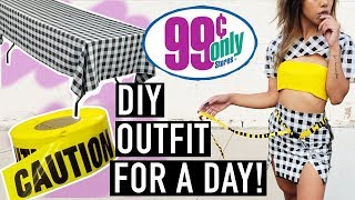 I Made An Entire $1 Dollar Store Outfit & Wore It For A Day! | CHALLENGES | Nava Rose