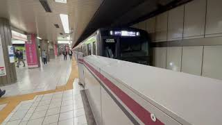都営新宿線10-300系580編成[区間急行]京王多摩センター行き新宿駅発車