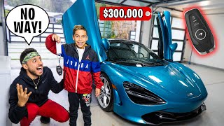 SURPRISING my DAD with his DREAM CAR! (McLAREN Reveal) | The Royalty Family