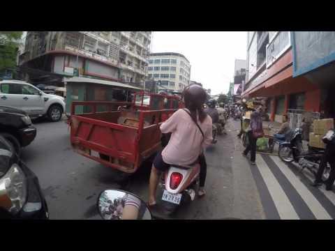 Phnom Penh, Cambodia - Driving around with my GoPro