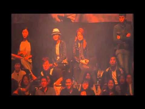 Joey Yung and Charlene Choi (Ah Sa) at Raymond Lam Fung Heart Attack concert in HK