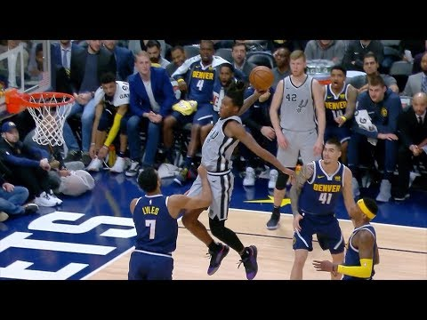 Nuggets Bench HILARIOUS Reaction To Lonnie Walker's Hops | April 3, 2019