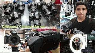 DSLR Market In Delhi | Cheapest Dslr Market In India | Exploring Tripods, Grimbles, Camera Bags.