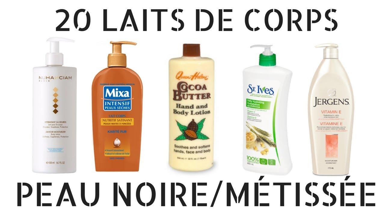 lait hydratant corps peau noire