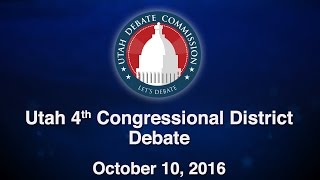 4th Congressional District Debate between Mia Love and Doug Owens