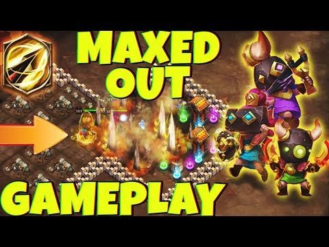 Slingshot Leader NEW HERO | MAXED OUT | 8/8 Zealous Drive GAMEPLAY | CASTLE CLASH