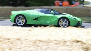 Jay Kay drives his LaFerrari up the Hillclimb | Festival of Speed 2014