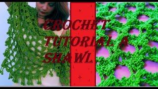 πλεκτό σάλι με βελονάκι ή πλεκτό παρεο για παραλία ? / crochet tutorial a shawl