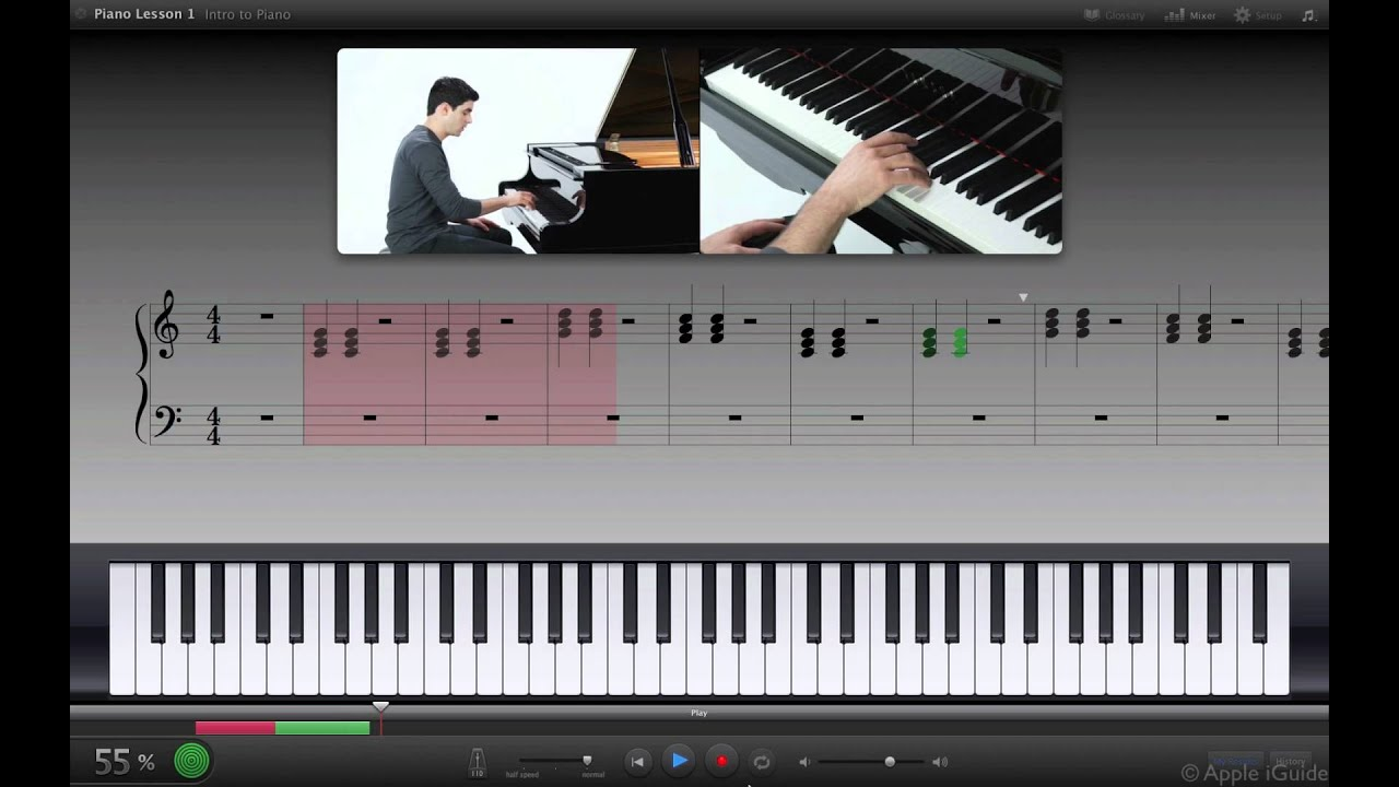 Garageband and learn to play piano