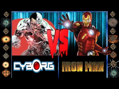 Cyborg (DC Comics) vs Ironman (Marvel Comics) - Ultimate Mugen Fight 2016
