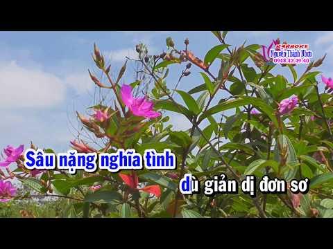 Karaoke Vọng Cổ HOA MUA TÍM - DÂY KÉP [T/g Lâm Hữu Tặng]