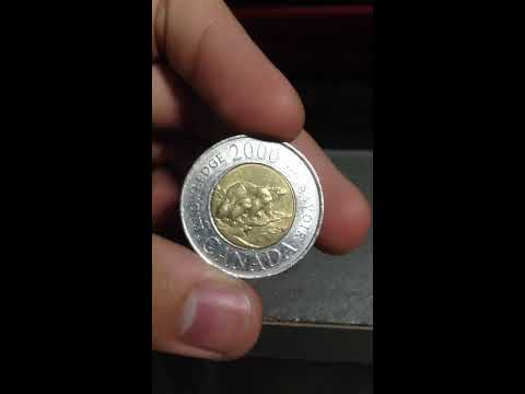 2 DOLLARS 2000 Canada Worth $20,000 Or One Million Pesos Or One Hundred Pesos Real 22k Gold Coin