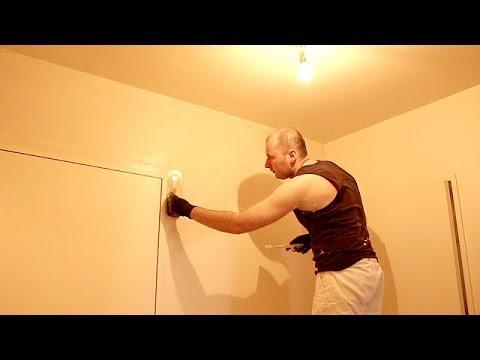 Rendre lisse un rev tement mural en toile de verre 1 3 youtube - Toile de verre lisse ...