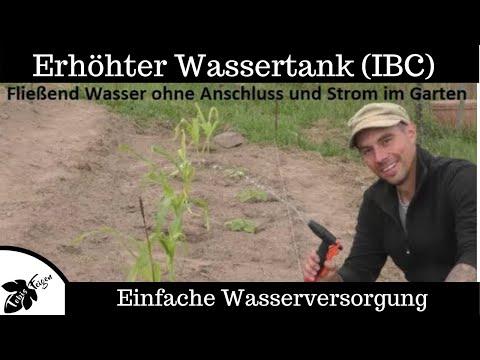 Pack es an - Fließend Wasser ohne Anschluss und ohne Strom im Garten