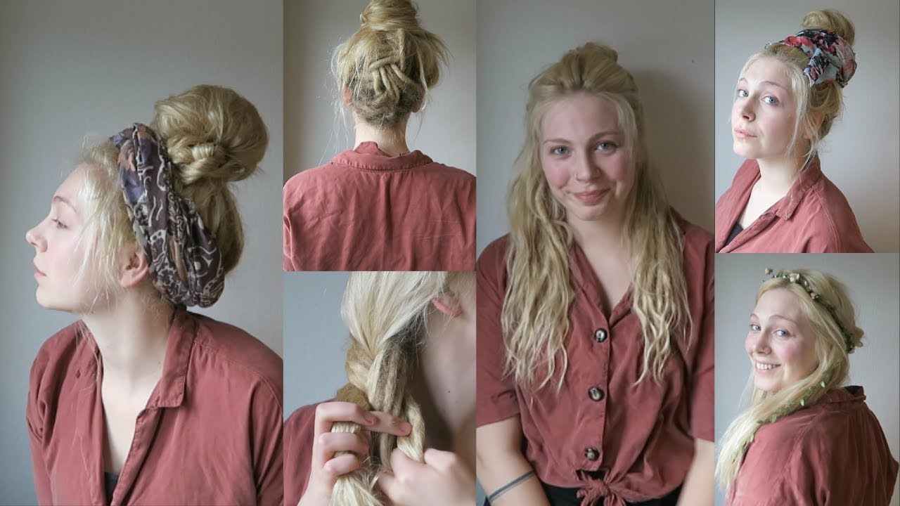 Hippie Hairstyles For Partial Dreadlocks
