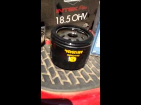 purolator oil filter on a craftsman lawn tractor with 18 5. Black Bedroom Furniture Sets. Home Design Ideas