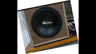 JBL 12 inch Passive Subwoofer A1500HI 325 watt 4 ohms review with sound test हिन्दी मे