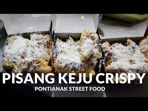MAKNYUUSS BANGET !! PISANG KEJU CRISPY JERUJU | PONTIANAK STREET FOOD #106