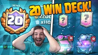 PERFECT 20 WINS DECK & 20 WIN GAMEPLAY!! | Clash Royale | 2 FREE LEGENDARY CARDS FROM CHESTS