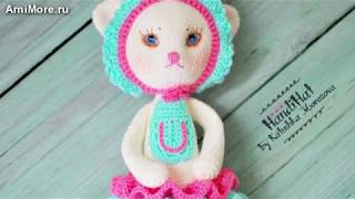 Амигуруми: схема Кошки Марты. Игрушки вязаные крючком. Free crochet patterns.