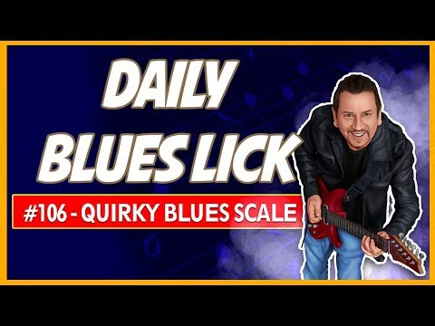 Quirky E blues scale lick - Daily Blues Lick #106