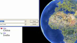 Save a kmz file in Google Earth Free HD Video