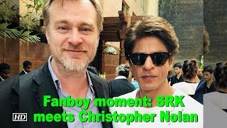SRK's Fanboy moment with Christopher Nolan