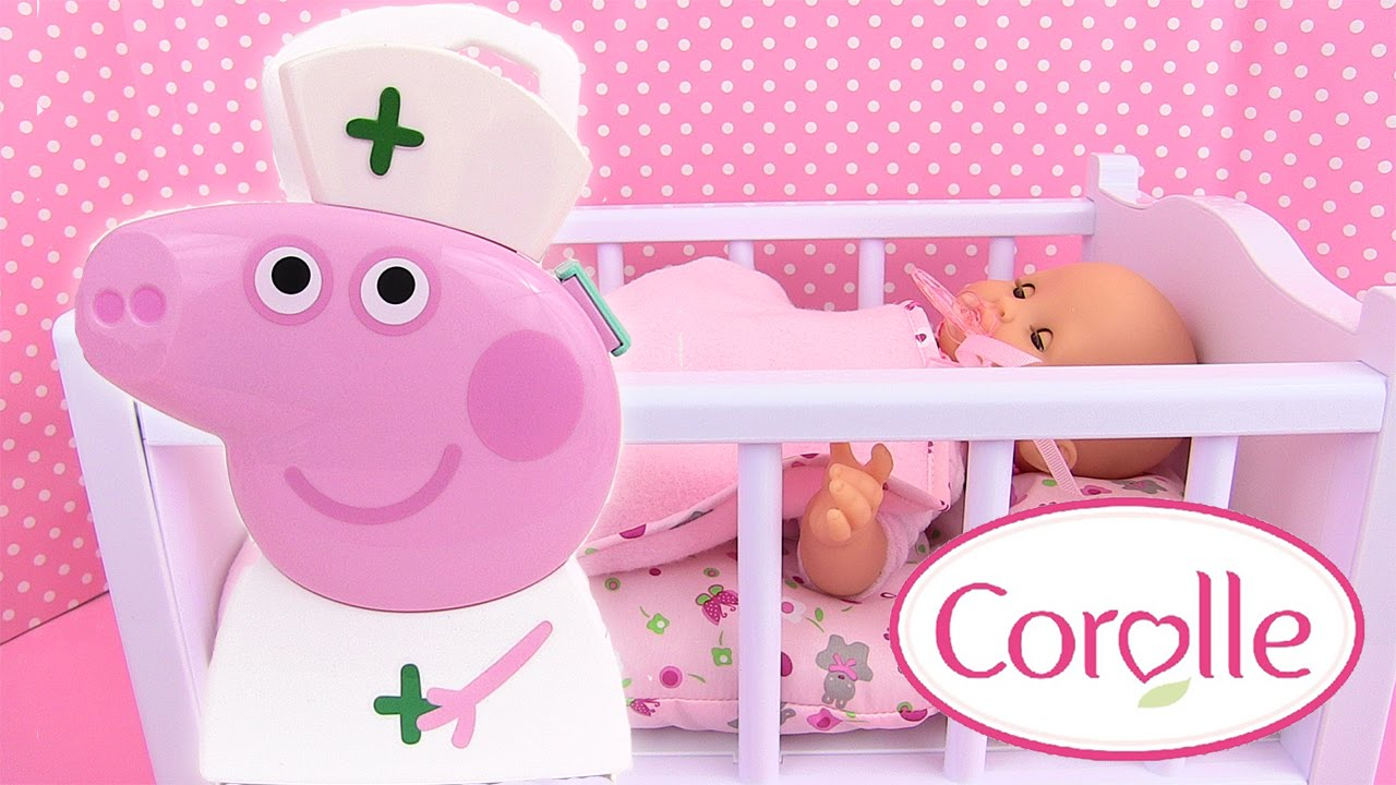 peppa pig infirmi re bo te d 39 accessoires m dicale b b corolle mon premier malade medical case. Black Bedroom Furniture Sets. Home Design Ideas