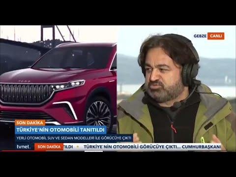 Yerli otomobilin örtüsü kalktı (tvnet canlı yayın)