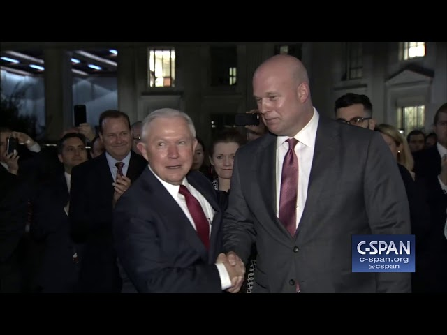 Jeff Sessions departs Department of Justice following resignation (C-SPAN)