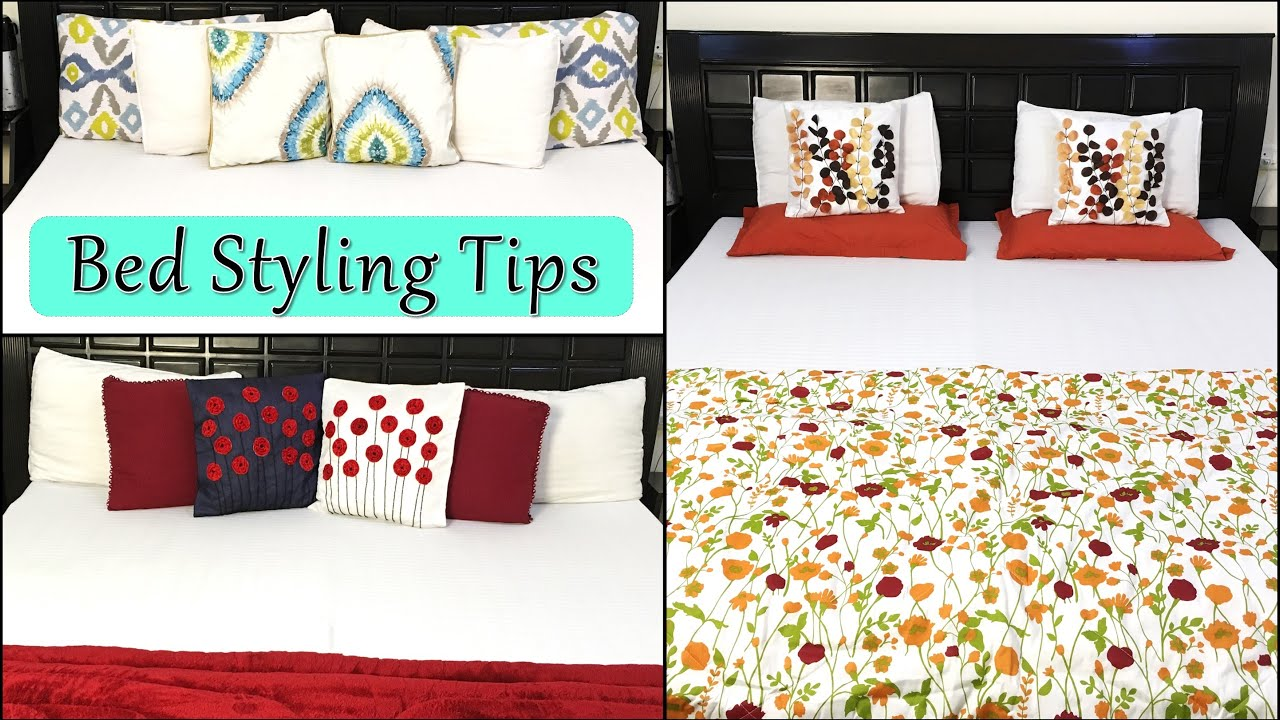 5 Ways To Style Your Bed Like A Pro |  Home Decor - How To Make A Bed | Trendy Bed Styling Tips